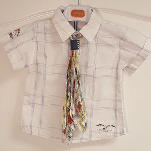 Tomax Tribal Island Shirt Button Up and Tie